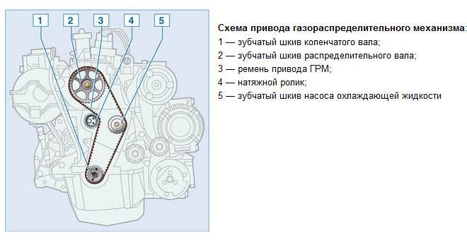 Привод ГРМ двигателя Рено Логан 1.6 8 клапанов