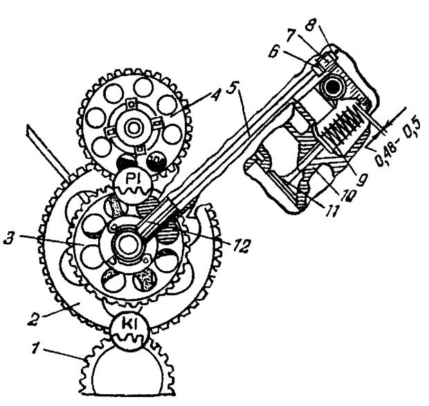 Механизм газораспределения СМД-60