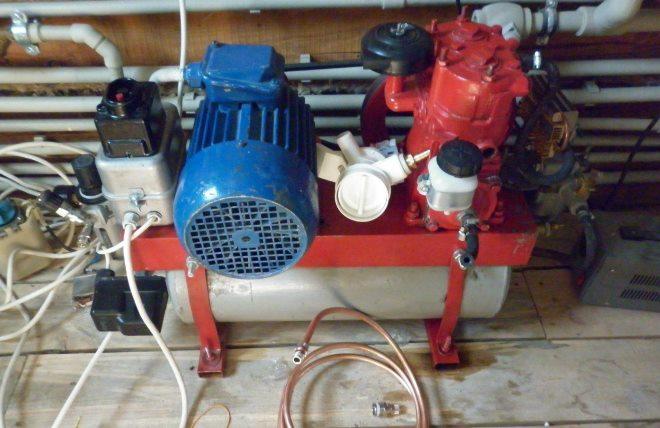Самодельный компрессор на базе тормозного компрессора от автомобиля ЗИЛ-130