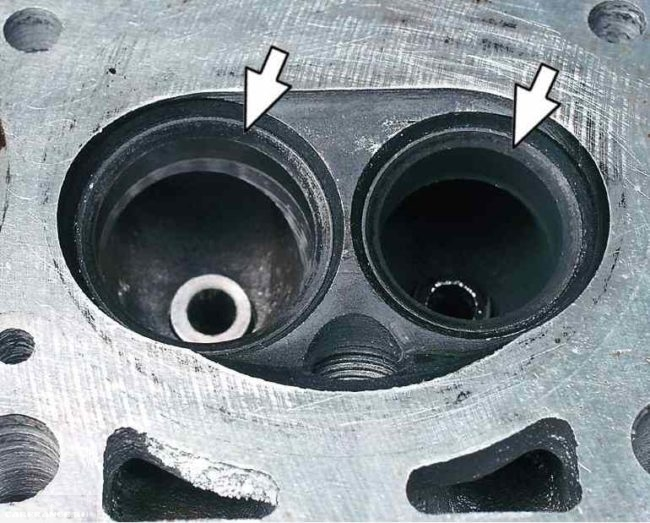 Сёдла клапанов, мотор ВАЗ 21114